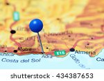 Small photo of Adra pinned on a map of Spain