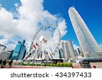 hong kong city | Shutterstock . vector #434397433