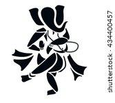 ganesha or ganesh dancing. | Shutterstock .eps vector #434400457