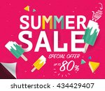 summer sale banner special... | Shutterstock .eps vector #434429407