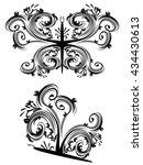 vintage ornamental floral... | Shutterstock .eps vector #434430613