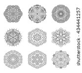 vector mandalas set for coloring | Shutterstock .eps vector #434441257