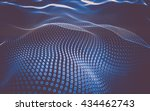 abstract polygonal space low... | Shutterstock . vector #434462743