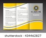 business trifold brochure... | Shutterstock .eps vector #434462827