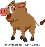 wild boar cartoon for you design | Shutterstock .eps vector #434463463