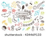 set of cute hand drawn doodle | Shutterstock .eps vector #434469133