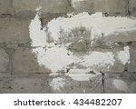 stone wall . gray brick white... | Shutterstock . vector #434482207