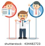 business man connecting a... | Shutterstock . vector #434482723