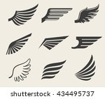 wings icons | Shutterstock . vector #434495737