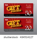 discount voucher template with... | Shutterstock .eps vector #434514127