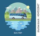 road trip flat design. nature... | Shutterstock .eps vector #434532847