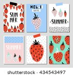 vector set of bright summer... | Shutterstock .eps vector #434543497