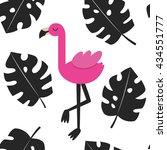 cute flamingo card design....   Shutterstock .eps vector #434551777