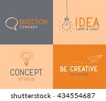 four different logo designs.... | Shutterstock .eps vector #434554687