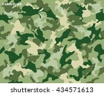 camouflage seamless pattern... | Shutterstock .eps vector #434571613