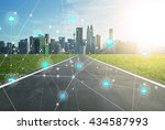 smart city and wireless... | Shutterstock . vector #434587993
