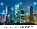 smart city and wireless... | Shutterstock . vector #434588023