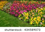a formal garden border of... | Shutterstock . vector #434589073