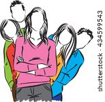 group of people illustration   Shutterstock .eps vector #434599543