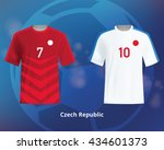 color soccer t shirts of czech... | Shutterstock .eps vector #434601373