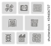 Set Of Monochrome Icons With...