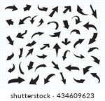 hand drawn arrows.sketchy... | Shutterstock .eps vector #434609623