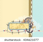background with space for... | Shutterstock .eps vector #434621077