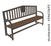 urban bench | Shutterstock .eps vector #434623693
