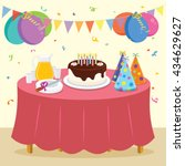 birthday party. vector... | Shutterstock .eps vector #434629627