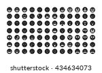 set of black emoticon vector....