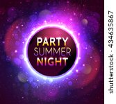 banner for summer night party... | Shutterstock . vector #434635867