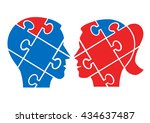 man woman understanding concept.... | Shutterstock .eps vector #434637487