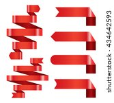 red banner ribbon vector set... | Shutterstock .eps vector #434642593