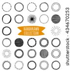 big vector set of unique hand... | Shutterstock .eps vector #434670253