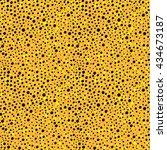 gold glitter seamless pattern... | Shutterstock .eps vector #434673187