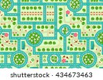 map of a top view from the city.... | Shutterstock .eps vector #434673463