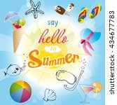 hello summer | Shutterstock .eps vector #434677783