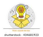 thin line flat design concept...   Shutterstock .eps vector #434681923