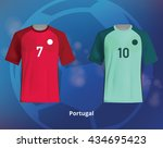 color soccer t shirts of... | Shutterstock .eps vector #434695423