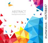 abstract geometric vector... | Shutterstock .eps vector #434708647