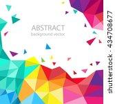 abstract geometric vector... | Shutterstock .eps vector #434708677
