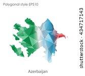 azerbaijan map in geometric... | Shutterstock .eps vector #434717143