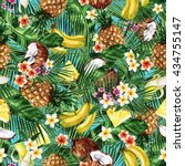 watercolor seamless pattern  ... | Shutterstock . vector #434755147