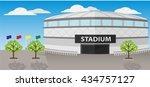 front view of sport stadium... | Shutterstock .eps vector #434757127