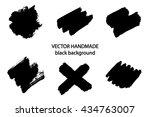 vector beautiful handmade black ...   Shutterstock .eps vector #434763007