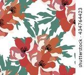 floral seamless pattern.vector... | Shutterstock .eps vector #434764423