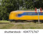 Dutch Train Passing By On A...