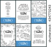 vector set of prepared cards... | Shutterstock .eps vector #434773243