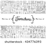 vector set with hand drawn... | Shutterstock .eps vector #434776393