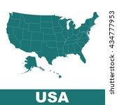 high detailed vector map  ... | Shutterstock .eps vector #434777953